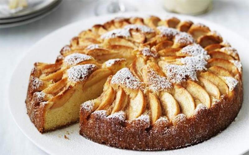 Le Gâteau aux Pommes et Mascarpone léger