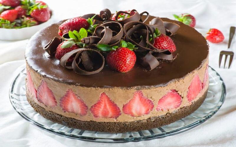 Le fraisier au chocolat gâteau copieux