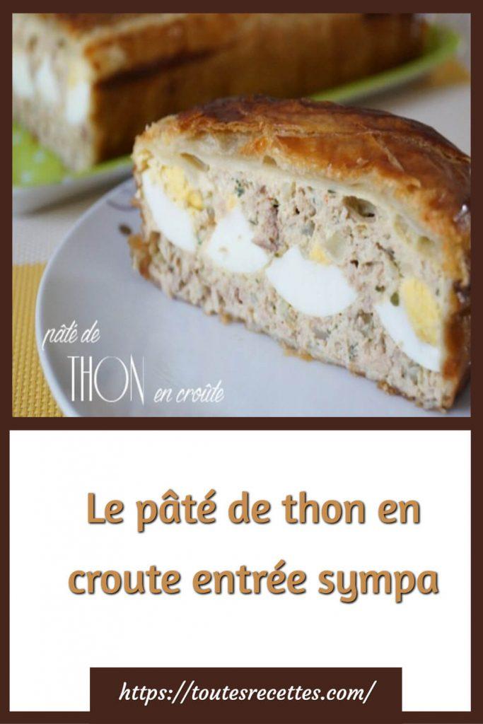 Comment préparer Le pâté de thon en croute