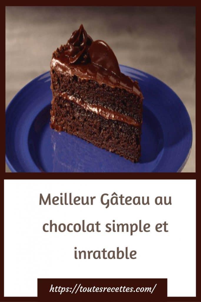Comment préparer le Meilleur Gâteau au chocolat simple et inratable