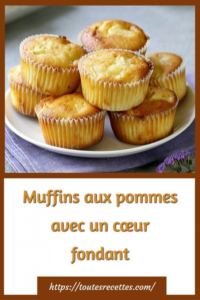 Comment préparer des Muffins aux pommes avec un cœur fondant