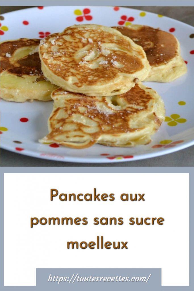 Comment préparer les Pancakes aux pommes sans sucre