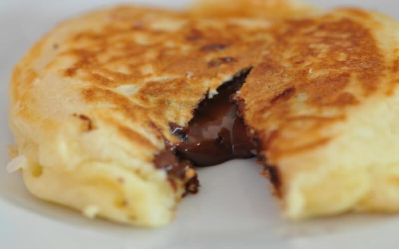 Pancakes fourrés au chocolat Une pure gourmandise