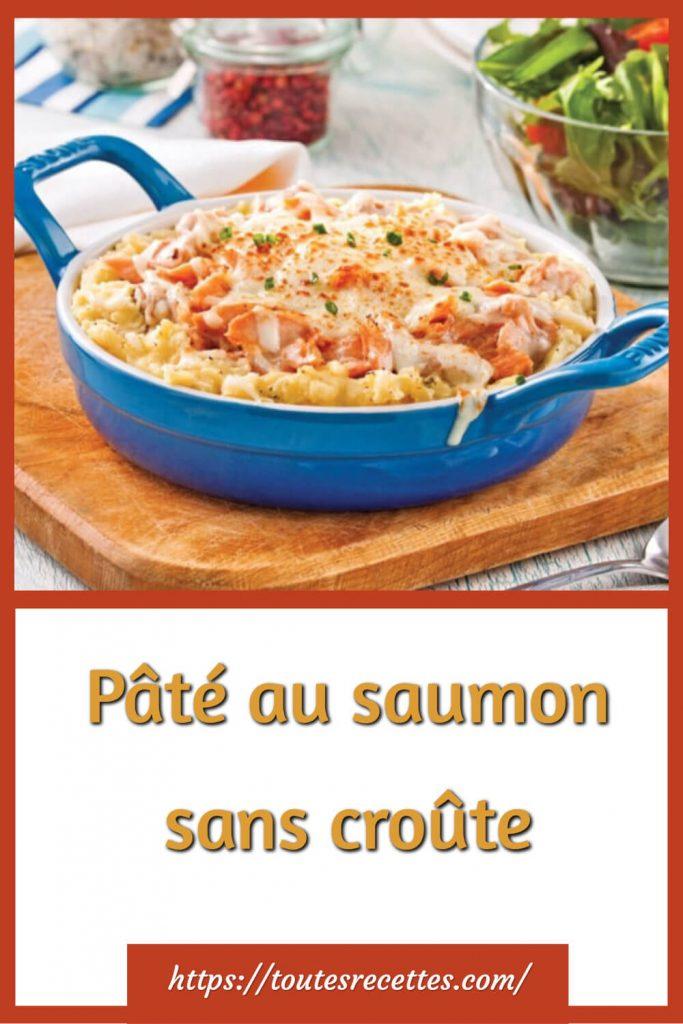 Comment préparer le Pâté au saumon sans croûte