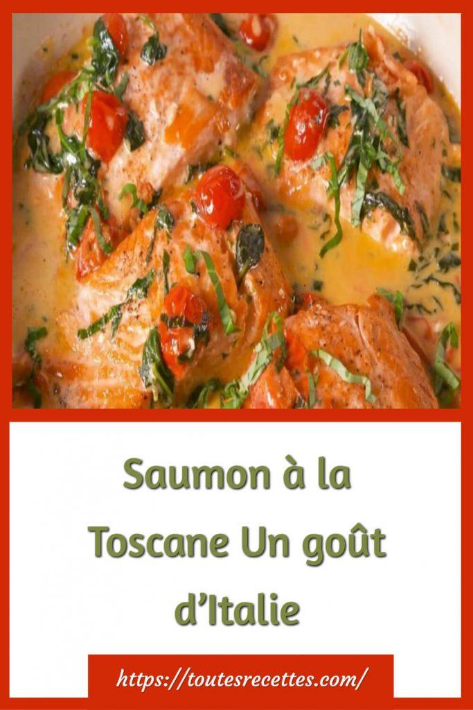 Comment préparer le Saumon à la Toscane, épinards, tomates séchés à la crème