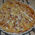Tarte pomme de terre , camembert , lardons