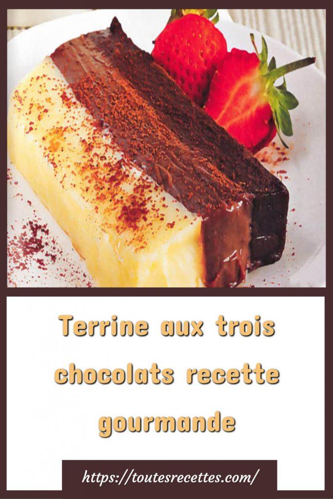 Comment préparer la Terrine aux trois chocolats