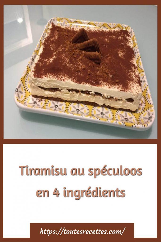Comment préparer le Tiramisu au spéculoos en 4 ingrédients