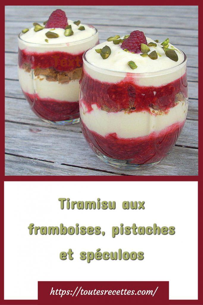 Comment préparer le Tiramisu aux framboises, pistaches et spéculoos