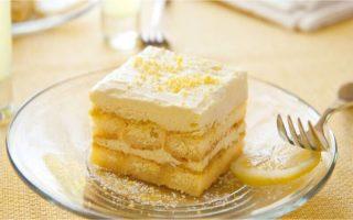 Tiramisu léger au citron dessert parfait