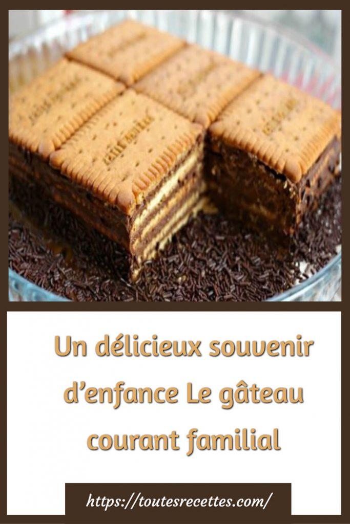 Comment préparer le Gâteau aux biscuits et chocolat