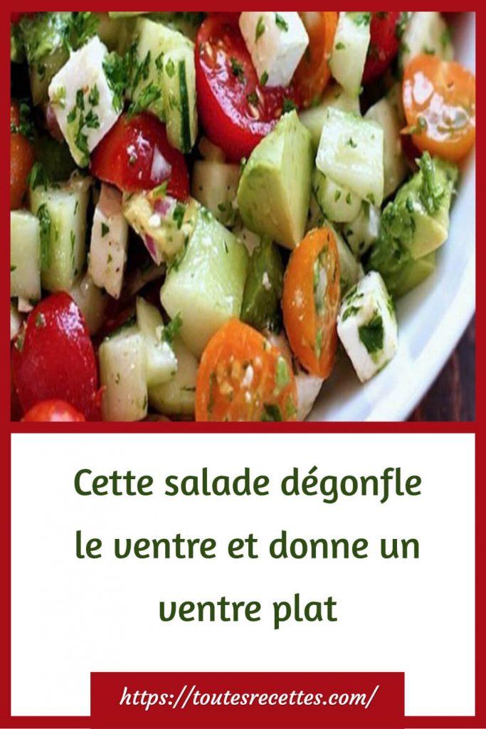 recette de votre salade minceur
