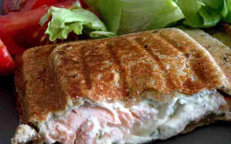 Croque-monsieur au saumon et Boursin
