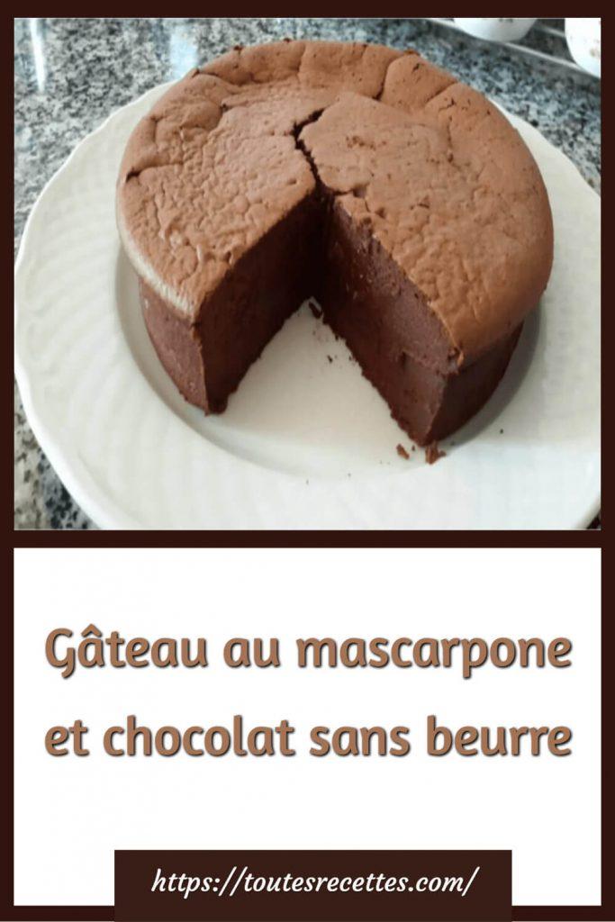 Comment préparer le Gâteau au mascarpone et chocolat sans beurre
