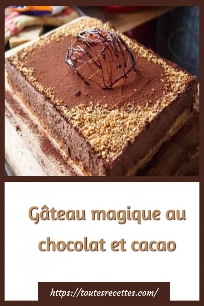 Comment préparer le Gâteau magique au chocolat et cacao