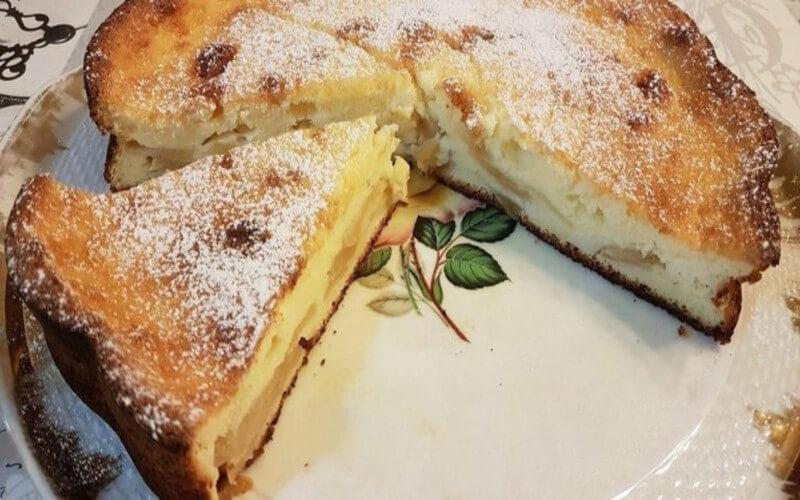 Gâteau moelleux aux pommes et au fromage blanc