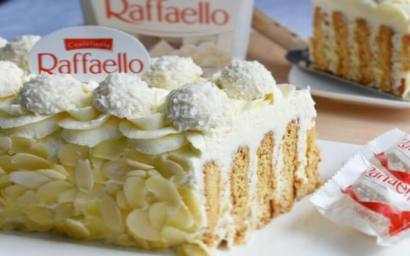 Gâteau raffaello aux petits beurre