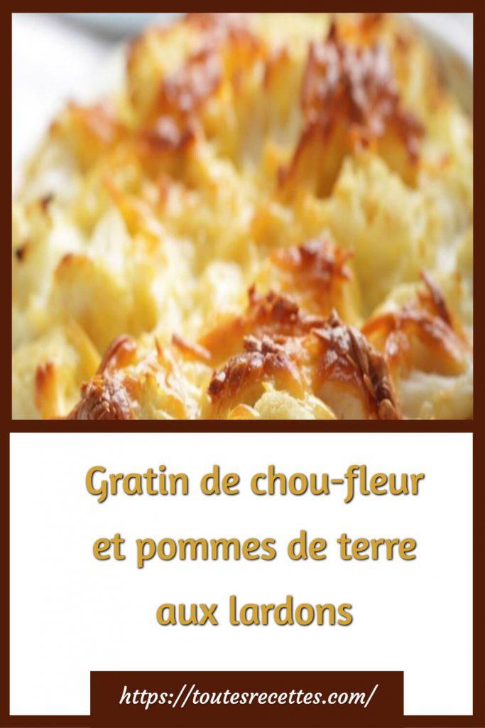 Comment préparer le Gratin de chou-fleur et pommes de terre aux lardons