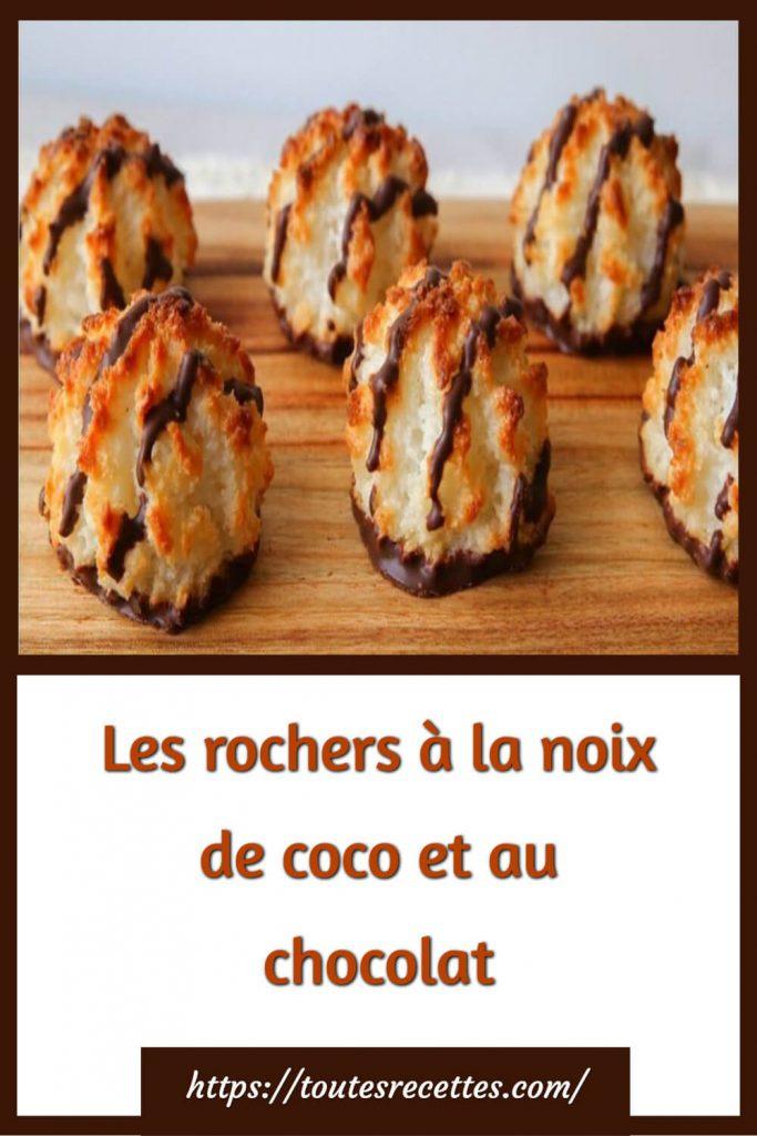Comment préparer Les rochers à la noix de coco et au chocolat
