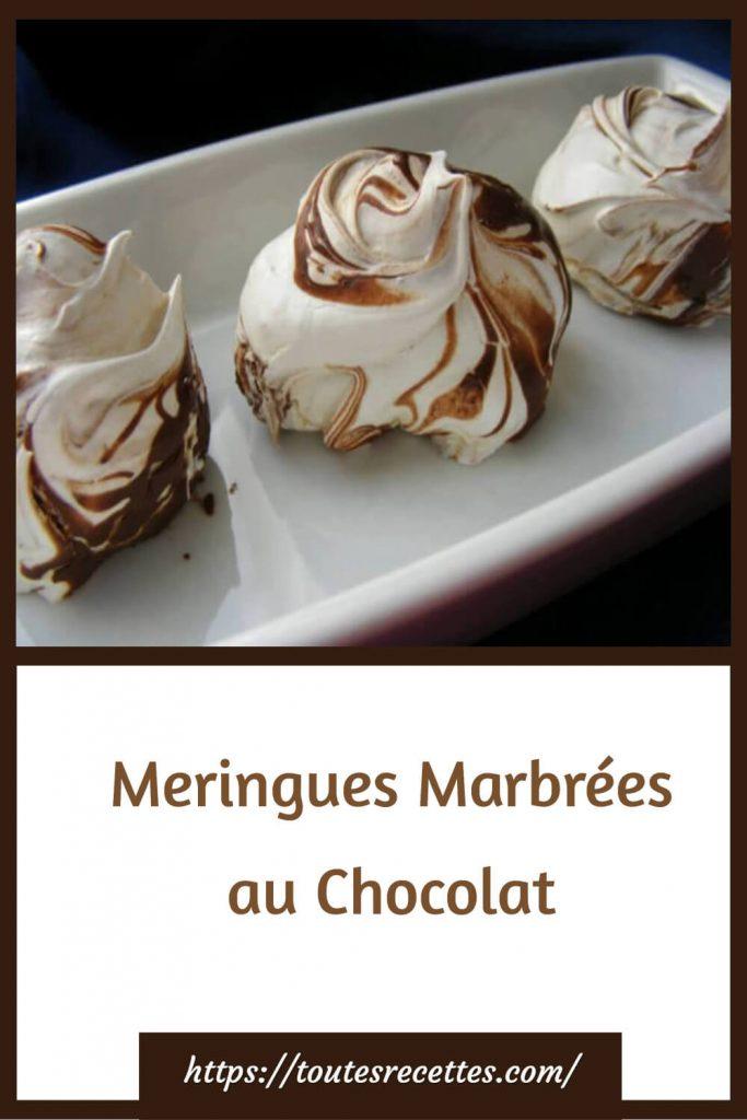 Comment préparer les Meringues Marbrées au Chocolat