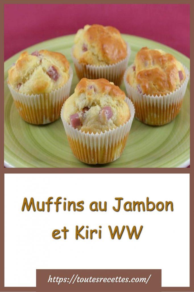 Comment préparer les Muffins au Jambon et Kiri WW