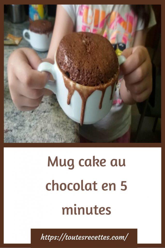 Comment préparer le Mug cake au chocolat en 5 minutes