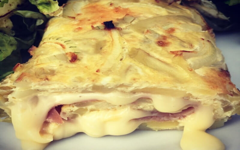 Omelette roulée façon tartiflette