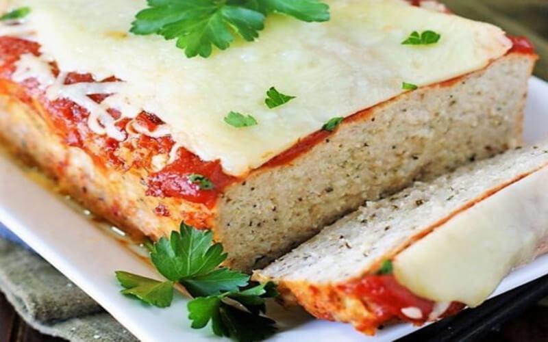 Pain de viande au poulet et Parmesan