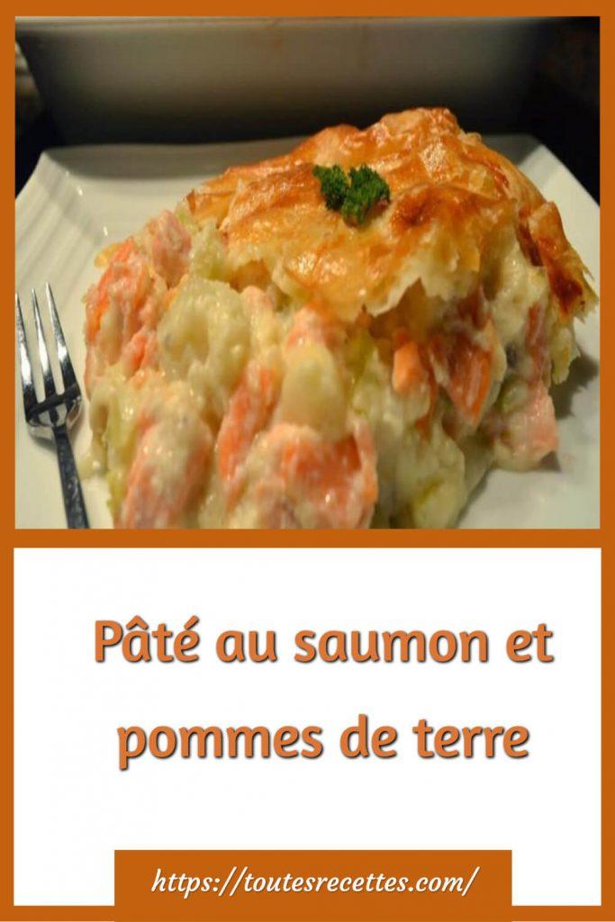 Comment préparer les Pâté au saumon et pommes de terre