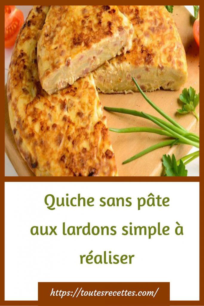 Comment préparer la Quiche sans pâte aux lardons