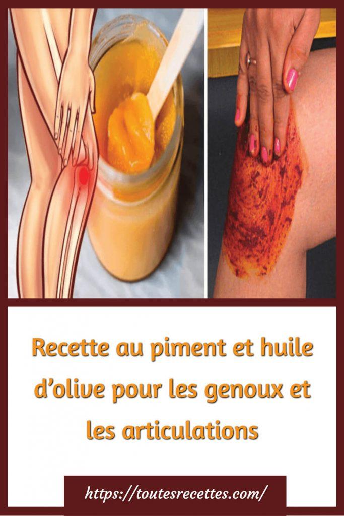 Recette naturelle pour des genoux et des articulations en bonne santé
