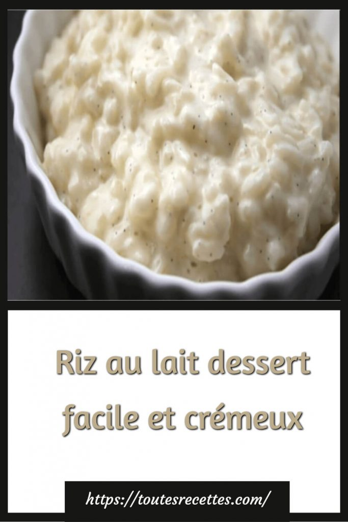 Comment préparer le Riz au lait dessert facile et crémeux