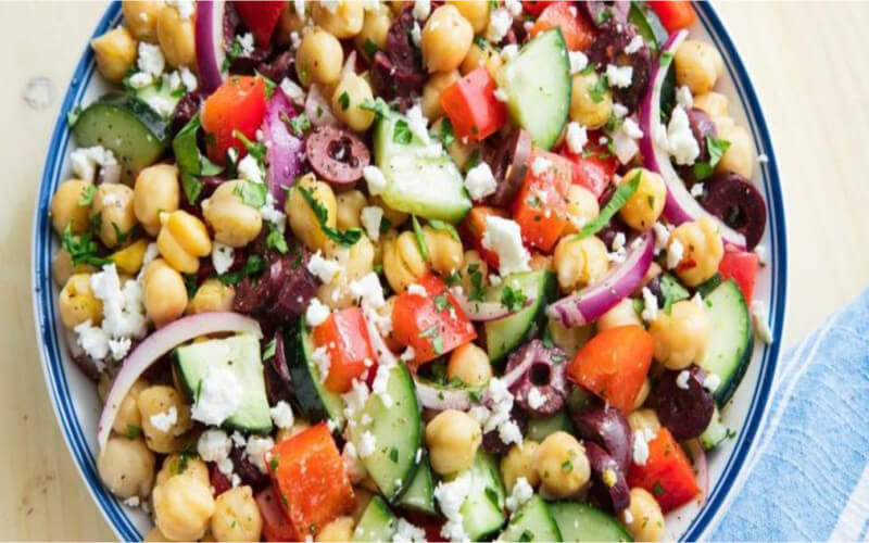 Salade de pois chiches méditerranéenne