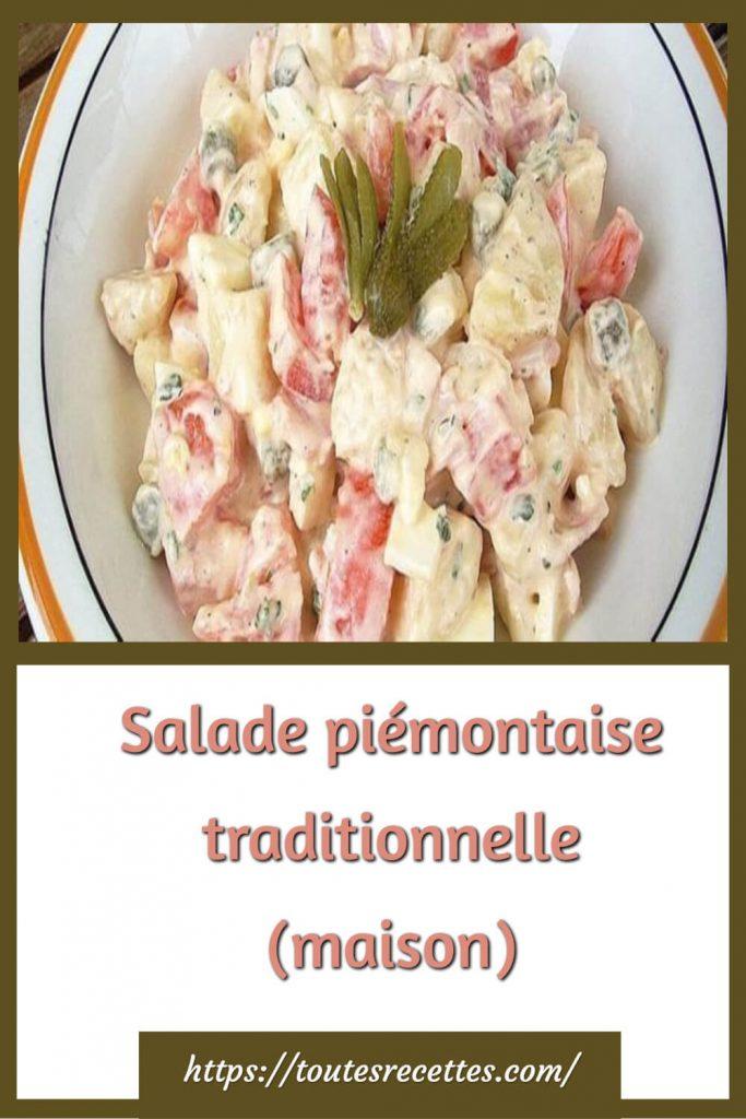 Comment préparer la Salade piémontaise traditionnelle (maison)