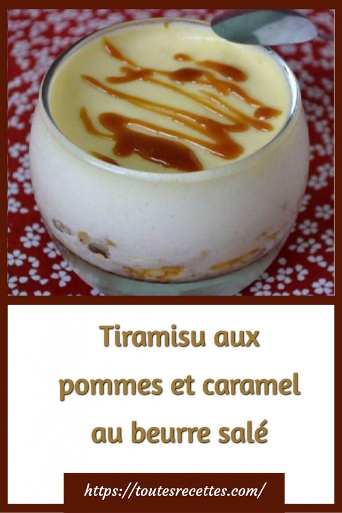 Comment préparer le Tiramisu aux pommes et caramel au beurre salé