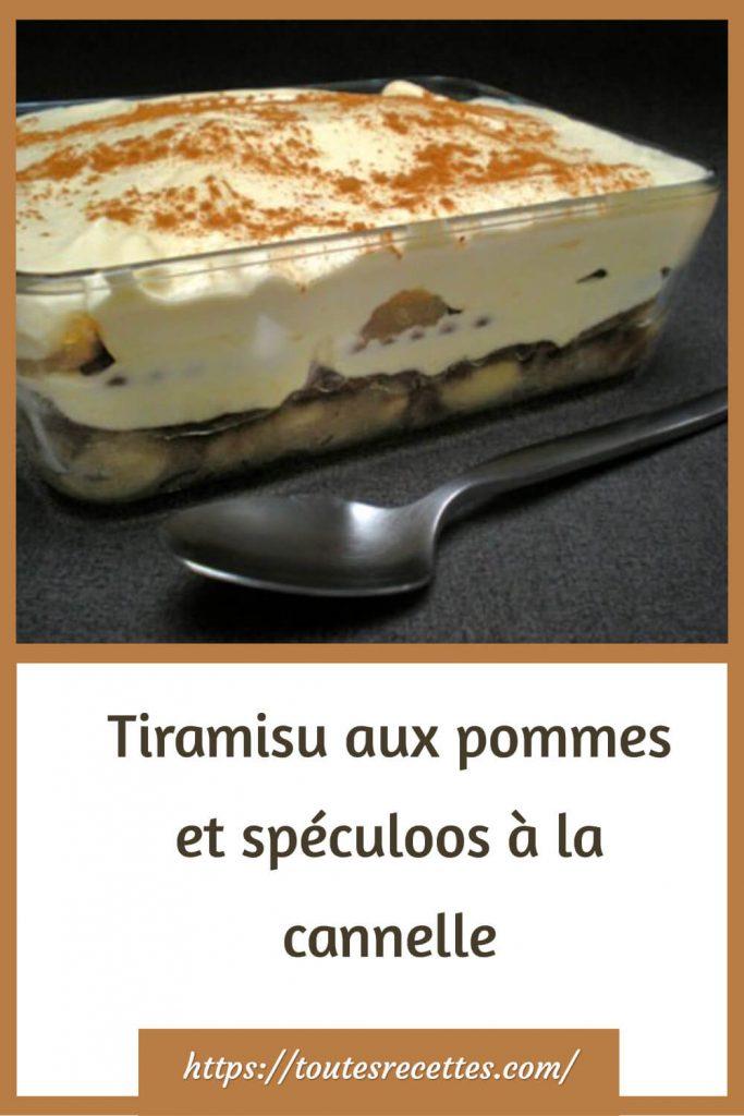 Comment préparer le Tiramisu aux pommes et spéculoos à la cannelle