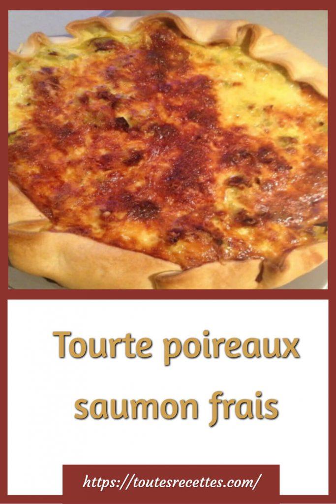Comment préparer la Tourte au poireaux et au saumon frais
