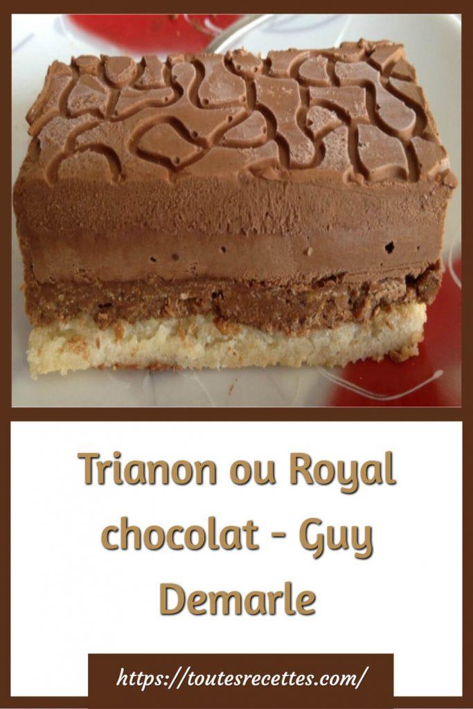 Comment préparer le Trianon ou Royal chocolat - Guy Demarle