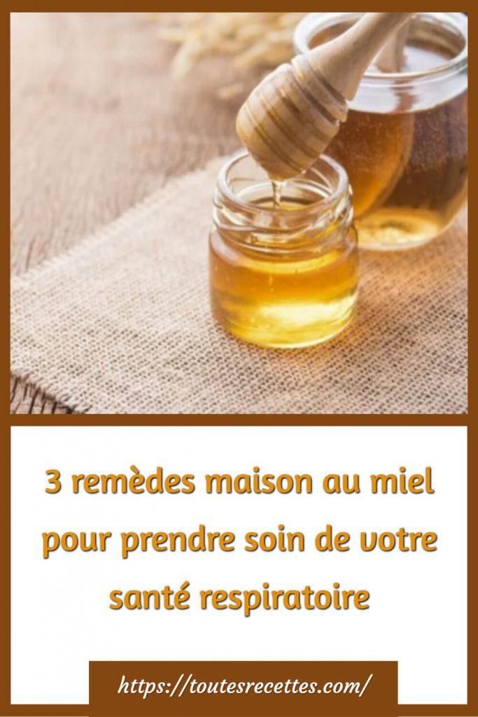 remèdes maison au miel pour prendre soin de votre santé respiratoire