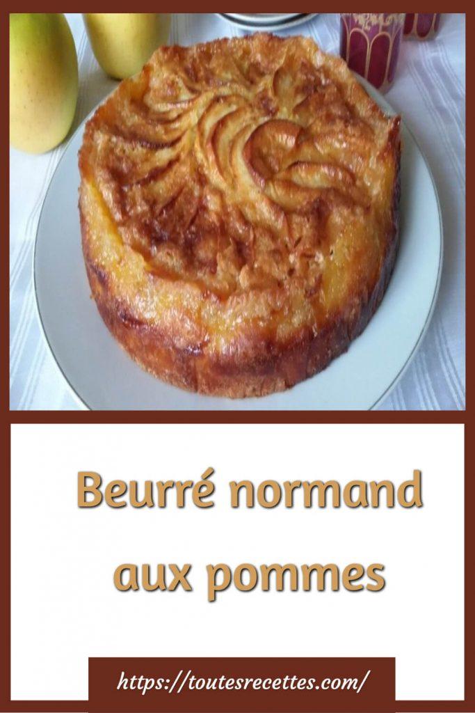 Comment préparer le Beurré normand aux pommes