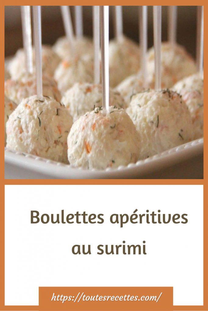 Comment préparer les Boulettes apéritives au surimi