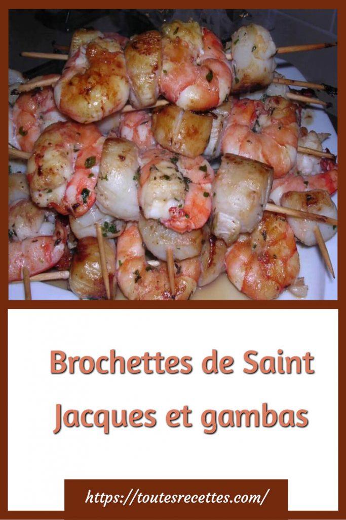 Comment préparer les Brochettes de Saint Jacques et gambas