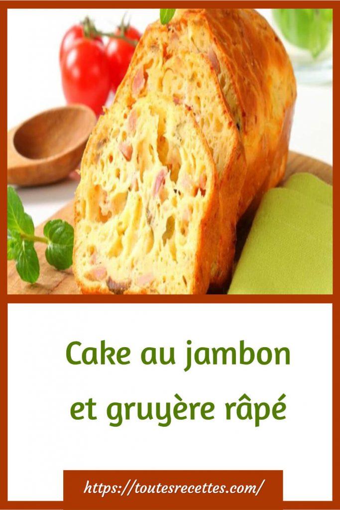 Comment préparer le Cake au jambon et gruyère râpé