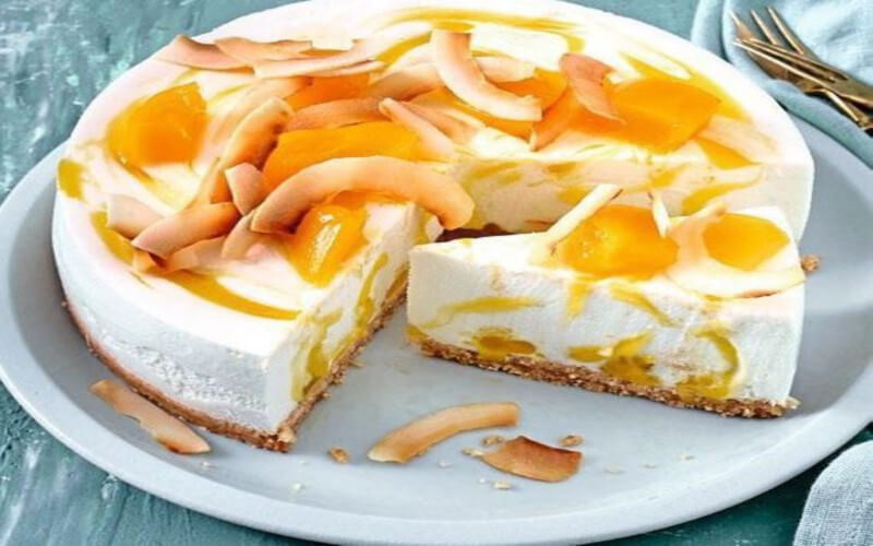 Cheesecake a la mangue spéculoos et fromage blanc