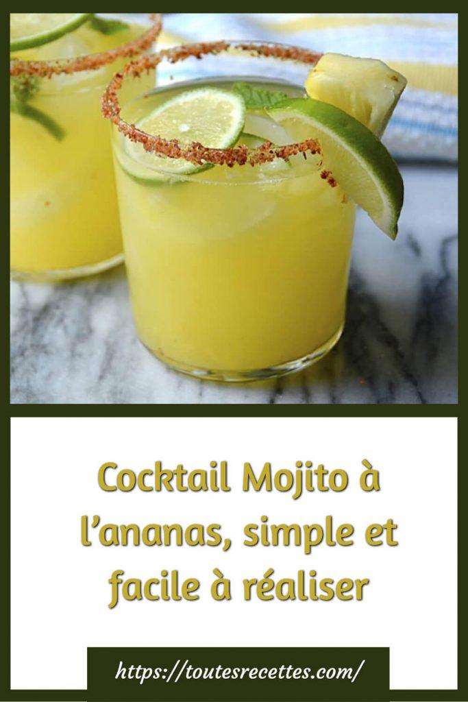 Comment préparer le Cocktail Mojito à l'ananas, simple et facile à réaliser
