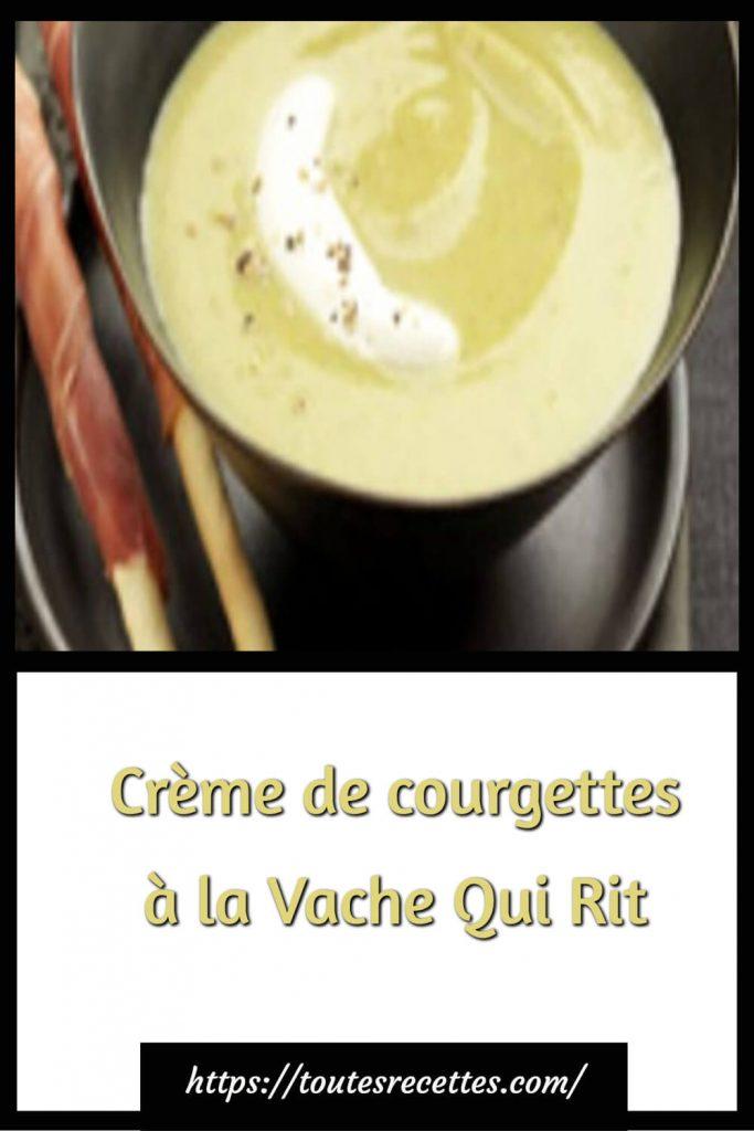 Comment préparer la Crème de courgettes à la Vache Qui Rit