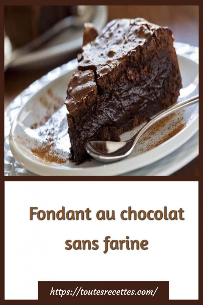 Comment préparer le Fondant au chocolat sans farine