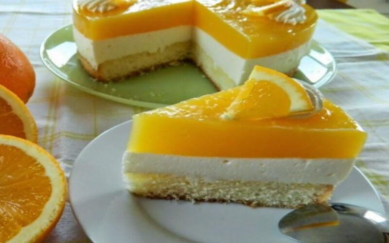 Gâteau à l'orange au Fromage et au yaourt