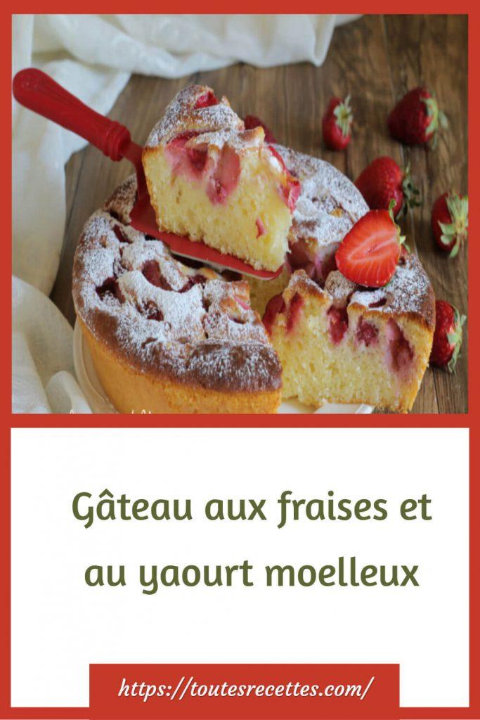 Comment préparer le Gâteau aux fraises et au yaourt moelleux