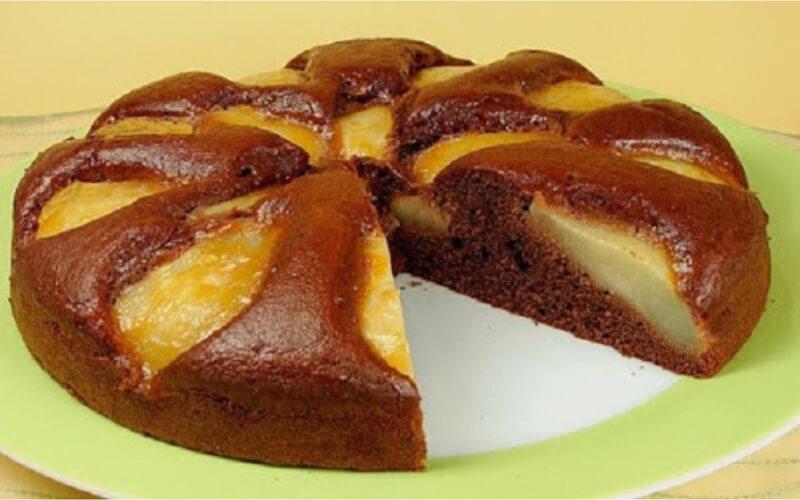 Gâteau poires-chocolat dessert gourmand
